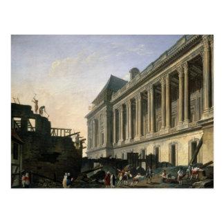 De opheldering van colonnade van het Louvre, 1764 Briefkaart