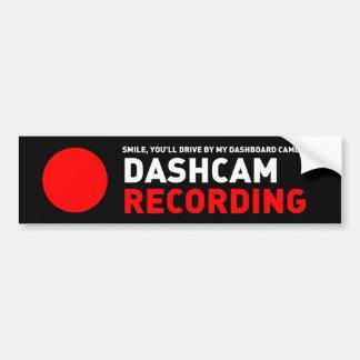 De Opname van Dashcam Bumpersticker