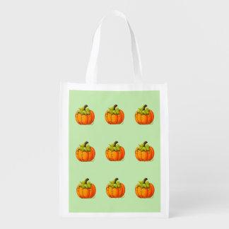 De opnieuw te gebruiken Pompoenen van Halloween Boodschappentas