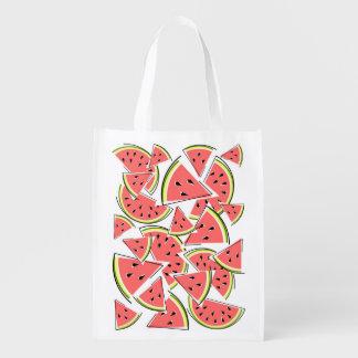 De opnieuw te gebruiken zak van de watermeloen herbruikbare boodschappentas