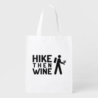 De Opnieuw te gebruiken zak van de Wijn van de Boodschappentas