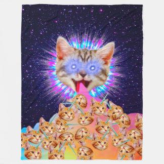 De Opperste Collage van de God van het kat Fleece Deken