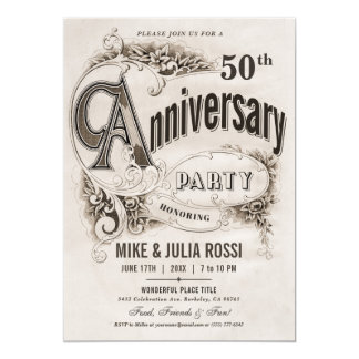 De opperste Vintage Uitnodigingen van het Jubileum