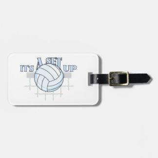 De Opstelling van het volleyball Bagagelabel