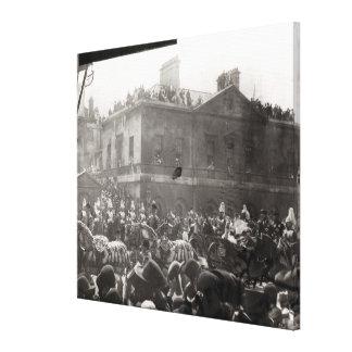De Optocht van het jubileum in Whitehall, 1887 Canvas Afdruk