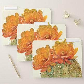 De Oranje Bloesems van de cactus Documentenmappen