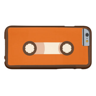 De oranje en Bruine Retro Band van de Cassette Barely There iPhone 6 Hoesje
