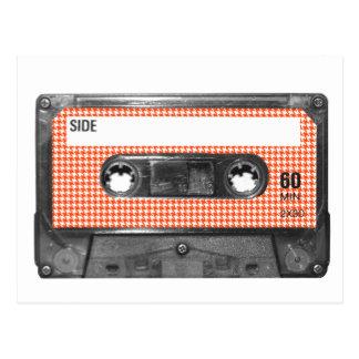 De oranje en Witte Cassette van het Etiket Briefkaart