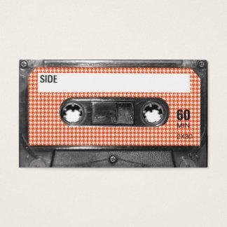 De oranje en Witte Cassette van het Etiket Visitekaartjes