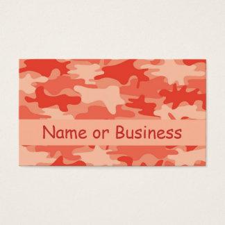 De oranje Gepersonaliseerde Naam van de Camouflage Visitekaartjes