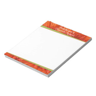 De oranje Green Personalized Blocnote van Gerbera