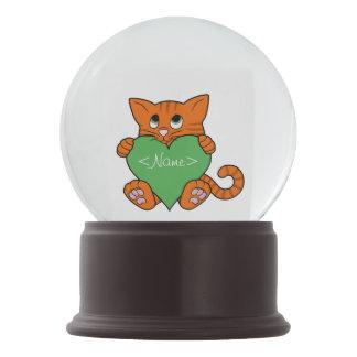 De Oranje Kat van de Valentijnsdag met Groen Hart