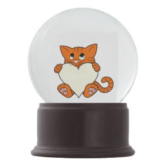 De Oranje Kat van de Valentijnsdag met het Hart