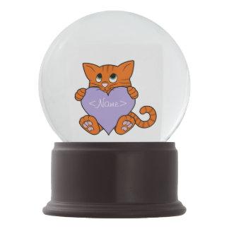 De Oranje Kat van de Valentijnsdag met Lichtpaars