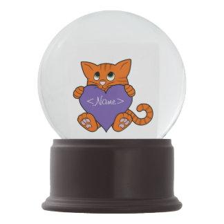 De Oranje Kat van de Valentijnsdag met Purple