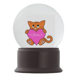 De Oranje Kat van de Valentijnsdag met Roze Hart