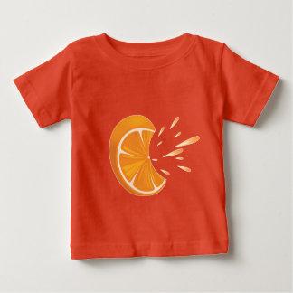 De oranje Plak van het Fruit op T-shirt van Jersey