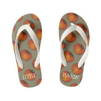 De Oranje Pompoenen van weinig van de Pompoen Kinder Teenslippers