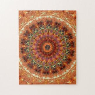 De oranje Puzzel van Mandala van de Caleidoscoop v Puzzel