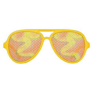 De oranje Schaduwen van de Partij van de Motregen Aviator Zonnebril