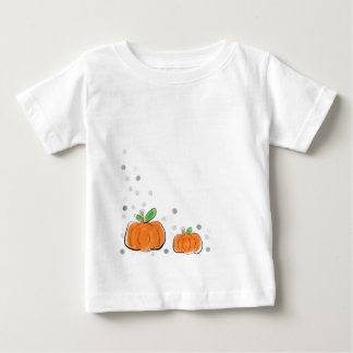 De oranje Schets van de Waterverf van Pompoenen en Baby T Shirts