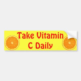 De oranje sticker van de citrusvruchtenbumper