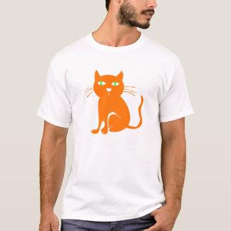 De oranje T-shirt van Halloween van de Kat