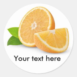 De oranje vruchten van de besnoeiing ronde sticker
