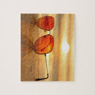 De oranje Zonnebril van de Vakantie van het Strand Puzzel