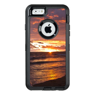 De oranje Zonsondergang van het Strand na het OtterBox Defender iPhone Hoesje
