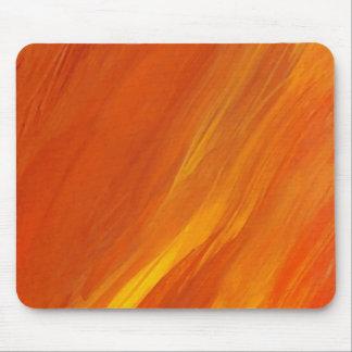 De Oranjegele Gouden Vlammen Firethrower van de Muismatten