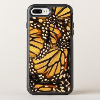 De oranjegele Zwarte Samenvatting van de Vlinder OtterBox Symmetry iPhone 8 Plus / 7 Plus Hoesje