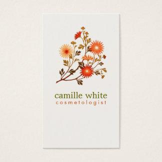 De Oranjerode Bloemen van de vintage Kosmetiek Visitekaartjes