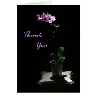 De orchidee dankt u kaardt wenskaart