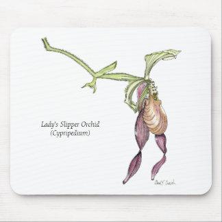 De Orchidee Mousepad van de Pantoffel van de dame Muismat