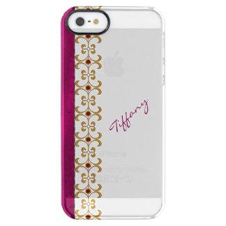 De Orchidee van Glam en het Gouden Juweel kijken Doorzichtig iPhone SE/5/5s Hoesje