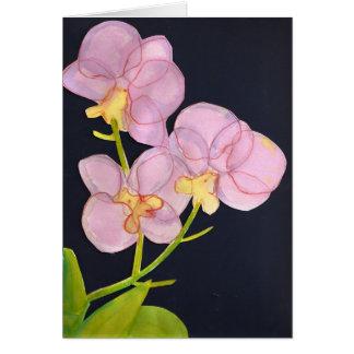 De Orchideeën van de waterverf Notitiekaart