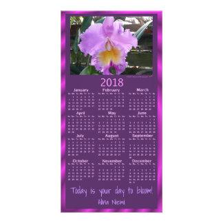 de orchideekalender van 2018 kaart