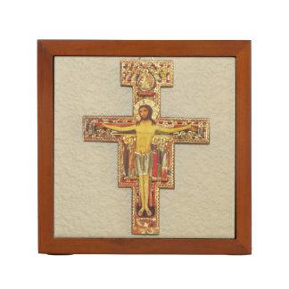 De Organisator van het bureau--Franciscan Kruis Pennenhouder