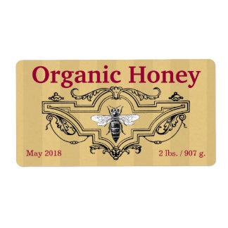 De organische Strepen van de Bijenkoningin Etiket