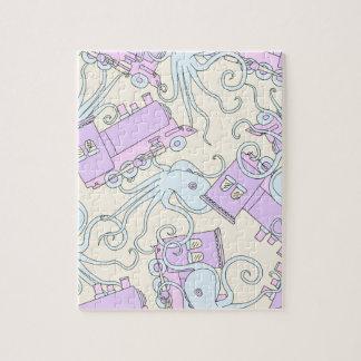 De originele Collage van de Octopus/van de Trein Puzzel