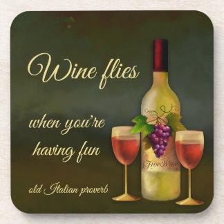 De originele Italiaanse Onderzetters van de Wijn