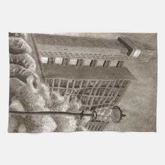 De originele tekening van de Toren van Trellick Theedoek