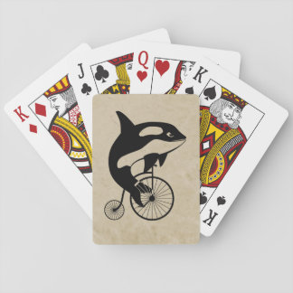 De Orka van de orka op Vintage Fiets Pokerkaarten