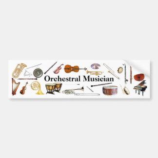 De orkestraal Sticker van de Bumper van de Musicus