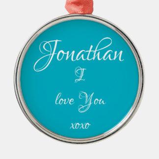 "De ornamenten leuk ""Jonathan I LIEFDE U"""