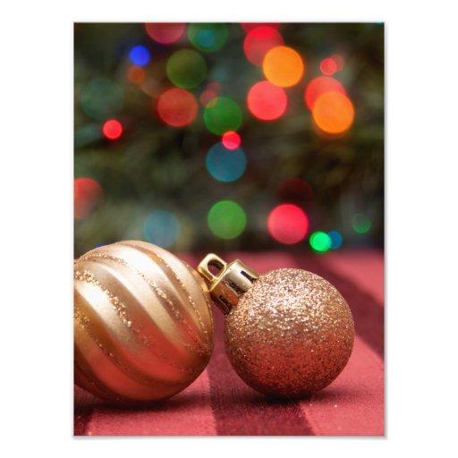 De Ornamenten van Kerstmis Fotografische Afdruk