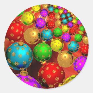 De ornamenten van Kerstmis Ronde Sticker