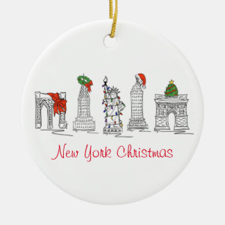 De Ornamenten van Kerstmis van New York