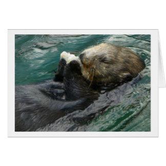 De Otter Snacking van het zee Notitiekaart